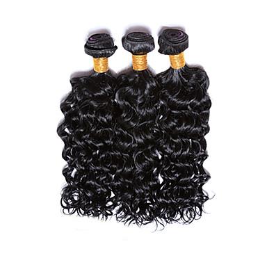 İnsan saç örgüleri Düz Brezilya Saçı Su Vanası 3 Parça saç örgüleri