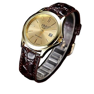 לזוג שעוני אופנה קווארץ שעונים יום יומיים PU להקה קסם חום