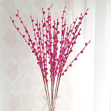 1 1 Ast andere Pflaumenfarben Boden-Blumen Künstliche Blumen 44.09inch/112cm