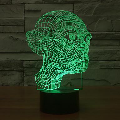 1 stk 3D nattlys Usb Dekorativ 5 V