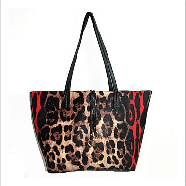 Kvinder Tote PU Afslappet Leopard