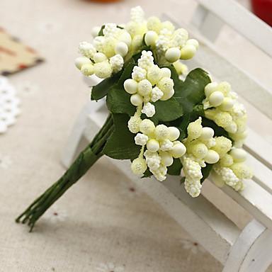 12 Ramo Seda Plástico Fruta Flor de Mesa Flores artificiais