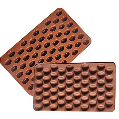 3D-Kaffeebohnen 55 Hohlraum Kaffeebohne Form Schokoladenform Silikon Schokoladenform