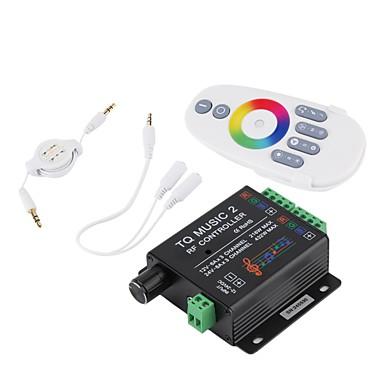 LED RGB musikk kontrolleren rf fjern 20m effektiv kontroll dc12-24v max 18a