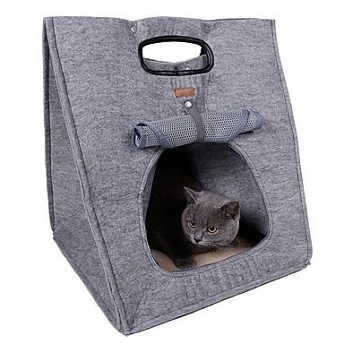 ネコ / 犬 キャリーバッグ / フロントバックパック / 犬パック ペット用 キャリア 携帯用 / 高通気性 / 折り畳み式 / テント / コスプレ ブラウン / グレー ファブリック