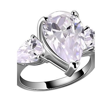 Feminino Maxi anel Moda Zircão Liga Jóias Para Casamento Festa Aniversário