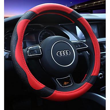 Fundas para volante piel genuina 38cm Rojo / Beige / Café For Universal
