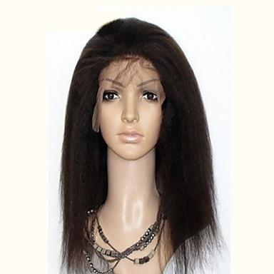 Emberi haj Csipke Csipke eleje Paróka Természetes hullám 120% 130% Sűrűség 100% kézi csomózású Afro-amerikai paróka Természetes