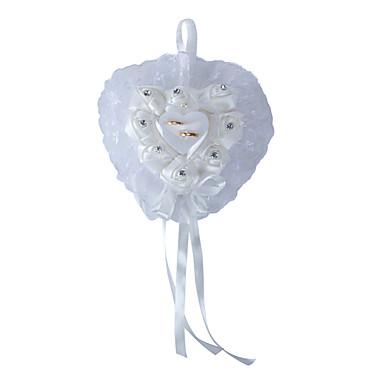 Hvid 1 Bånd Sløjfe Kronblade Krystal Satin Blonde