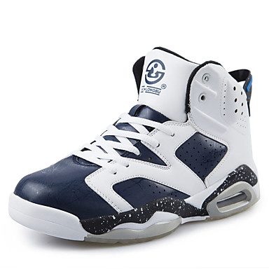 Unisex Sneakers Komfort Tyl Forår Sommer Afslappet Basketball Komfort Snøring Flad hæl Sort Rød Blå Flad