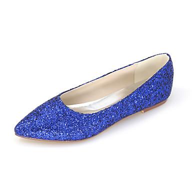 Mulheres Sapatos Gliter Primavera / Verão Rasos Sem Salto Gliter com Brilho para Casamento / Festas & Noite / Social Verde / Azul / Preto
