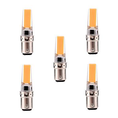 YWXLIGHT® 5pcs 5W 400-500 lm BA15D Luces LED de Doble Pin T 1 leds COB Regulable Decorativa Blanco Cálido Blanco Fresco AC 220-240V AC