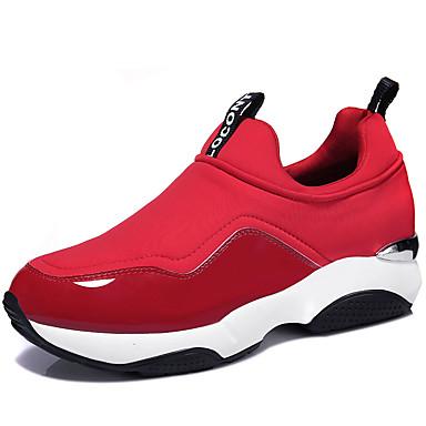Sneakers-Syntetisk-Komfort-Dame-Sort Rød-Fritid Sport-Flad hæl