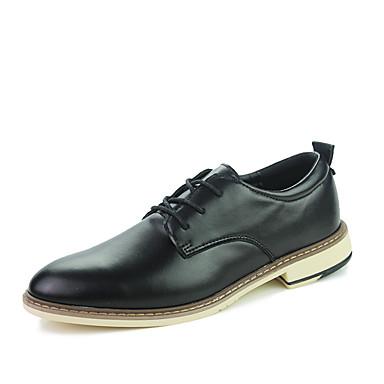 Miehet kengät Tekonahka Kevät Kesä Syksy Talvi Comfort Oxford-kengät Kävely Solmittavat Käyttötarkoitus Häät Juhlat Valkoinen Musta