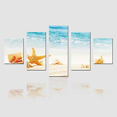 Canvas Set Landschap Modern,Vijf panelen Canvas Verticaal Print Art wall Decor For Huisdecoratie