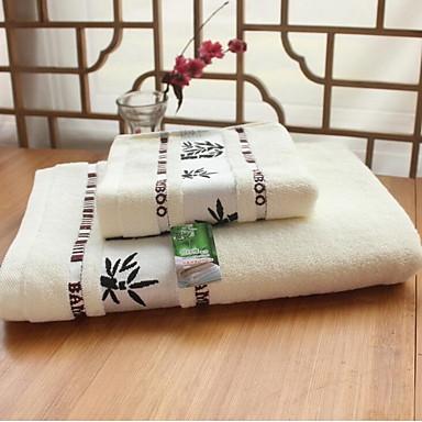 Frisk stil Badehåndklæde Sæt, Jacquard Vævning Overlegen kvalitet 100% Bambus Fiber Strikket Jacquard Håndklæde