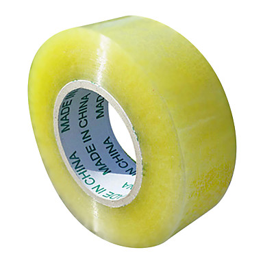 gul transparent tape (bred 6cm tyk 2,8 cm)