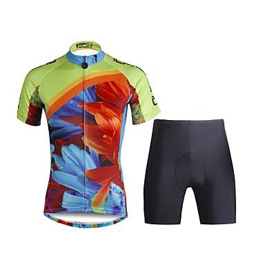 ILPALADINO Dame Kortermet Sykkeljersey med shorts - Svart Sykkel Klessett, 3D Pute, Fort Tørring, Ultraviolet Motstandsdyktig, Pustende,