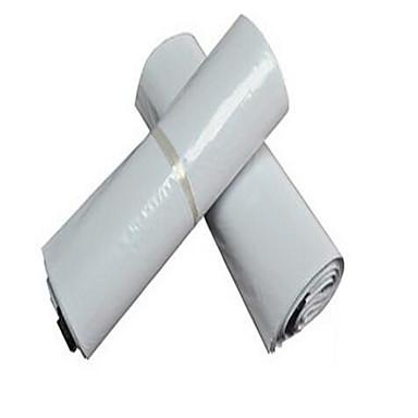 bolsas mensageiro por atacado 17 * 30 espessa túnica branca embalagens genéricas envolto espessura bolsas impermeáveis 100 / pacote