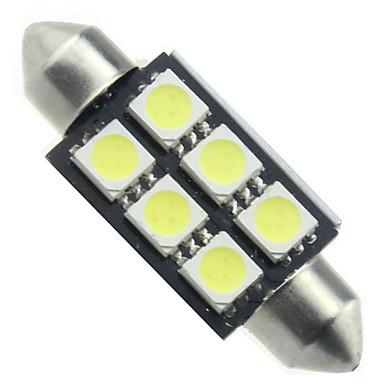 10pcs canbus 6smd 5050 36 milímetros festão luz branca cúpula lâmpadas led (DC12V)