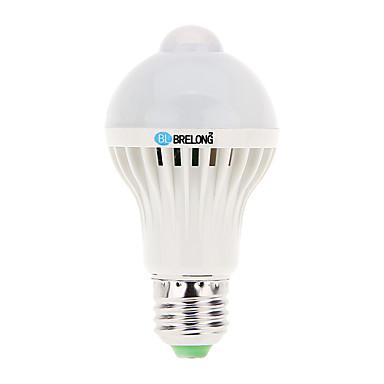 BRELONG® 5W 400-450lm E26 / E27 LED-globepærer A60(A19) 12 LED Perler SMD 5730 Sensor Dekorativ Kold hvid 220-240V