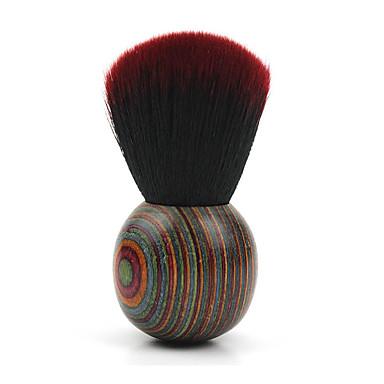 Pincel para Blush Escova de Cabelo de Cabra Portátil Viagem Profissional Madeira Cara