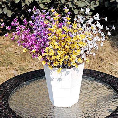 1pc 1 Afdeling Polyester / Plastik Blomme Bordblomst Kunstige blomster 14.5inch/37CM