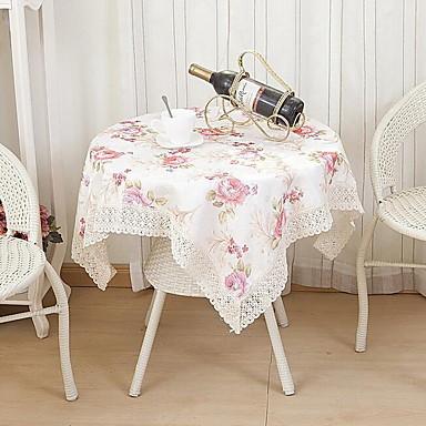 Kvadrat Blomstret Mønstret Duge , Polyester Materiale Hotel Middagsbord