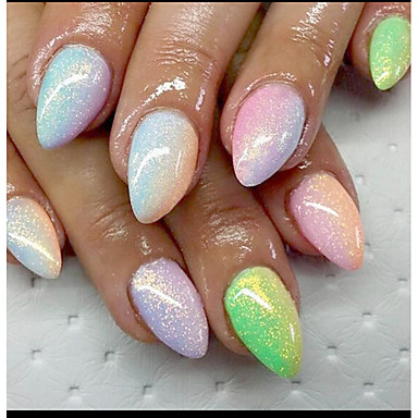 1pc nail vismeel art gouden UI kleurenspel glitter 10g zakken vijf kleuren optioneel