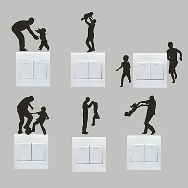 Romantik Wall Stickers Fly vægklistermærker Dekorative Mur Klistermærker / Klistermærker til kontakter,PVC Materiale Kan fjernesHjem