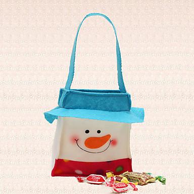 1pc natal cinto saco de doces snowmon cobrir ano novo fontes do partido de decoração para casa jantar