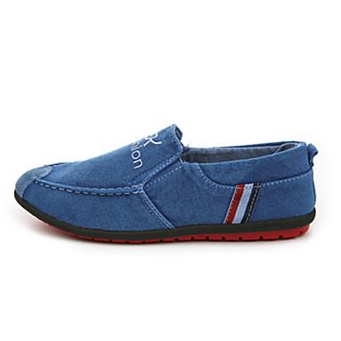 Loafers og Slip-ons-Denim-Komfort-Herre-Blå Grå-Udendørs Fritid-Flad hæl