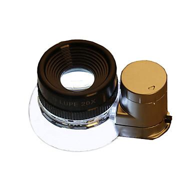 OUJIN 20 mm Lupas Dobrável LED Alta Definição Uso Genérico Jóias Para Leitura Reparação de Relógio Equipamentos e Ferramentas