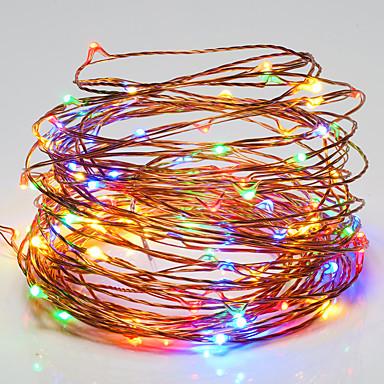 Lysslynger 100 lysdioder RGB Hvid Vandtæt Jævnstrøm 12V DC 12V