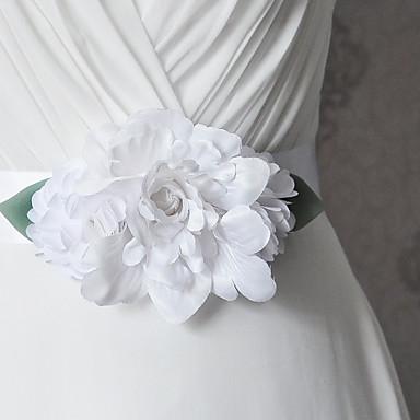 Cetim Casamento Festa / Noite Dia a Dia Faixa With Floral Fru-Fru Mulheres Faixas
