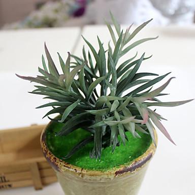 1pc 1 Ast Polyester / Kunststoff Pflanzen Tisch-Blumen Künstliche Blumen 6.88inch/17.5CM