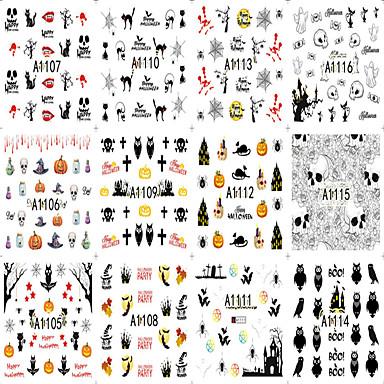 12 pcs Puntas Completas de Uña Joyas de Uñas arte de uñas Manicura pedicura Diseños de Moda / Personalizado Clásico / Dibujos Diario