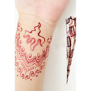 halloween luonnollisia kasviperäisiä Henna väliaikainen mehandi tatuointi kartioita body art versha (punainen)