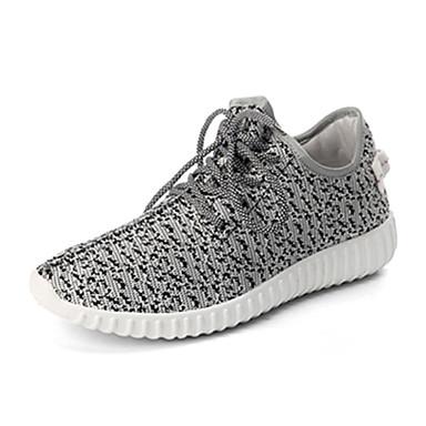 Herre Sko Tyl Forår Efterår Komfort Sneakers Gang Snøring for Afslappet Hvid Sort Grøn