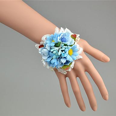 Hochzeitsblumen Armbandblume Hochzeit Tüll Spitze 3 cm ca.