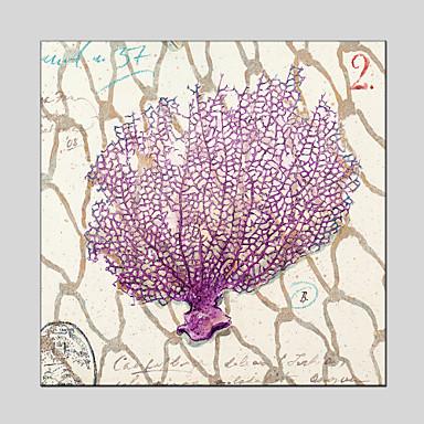 Handgeschilderde Bloemenmotief/Botanisch Olie schilderijen,Modern Eén paneel Canvas Hang-geschilderd olieverfschilderij For Huisdecoratie