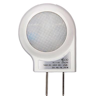 0.6W førte nat lys med solopgang til solnedgang sensor hvid farve snegl vågelampe