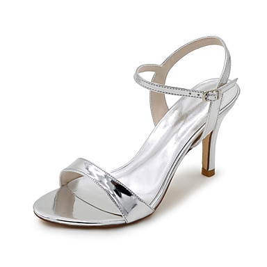 9f518e4dcd61 Women s Shoes Patent Leather Spring   Summer Sandals Stiletto Heel Silver    Blue   Golden   Wedding   Party   Evening   Party   Evening