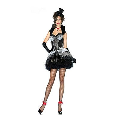 Cosplay Kostumer Festkostume Vampyr Festival/Højtider Halloween Kostumer Ensfarvet Nederdel Handsker Halskæde Hat Halloween Kvindelig