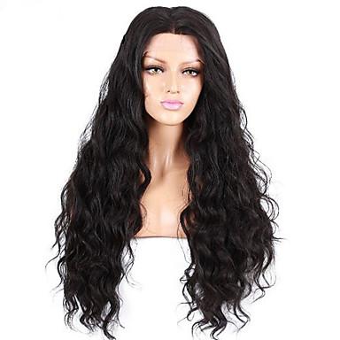 Ekte hår Helblonde Parykk Rett 150% tetthet 100 % håndknyttet Afroamerikansk parykk Naturlig hårlinje Kort Medium Lang Dame