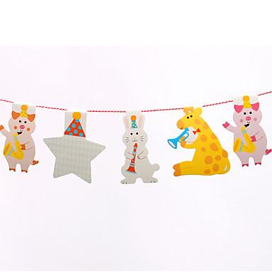 Acessórios do partido Acessório para Fantasia Aniversário Tema Clássico Não-Personalizado Papel de Cartão 1Peça/Conjunto