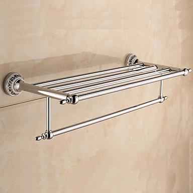 Hylle til badeværelset / Håndklevarmer / Krom / Veggmontert /60*22.3*13.7cm /Rustfritt stål / Zinklegering /Moderne /60cm 22.3cm 1.424
