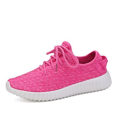 Sneakers-Tyl-Komfort-Dame-Sort Lilla Vandmelon Sort og Hvid-Fritid Sport-Flad hæl