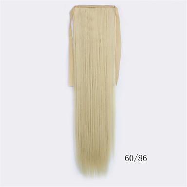 Sort syntetisk Hestehale Rett Clip In Hestehale 56cm gram Medium (90g-120g) Mængde