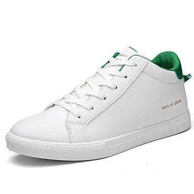 Fladsko-laklæderHerre-Sort Blå Grøn Hvid-Fritid-Flad hæl